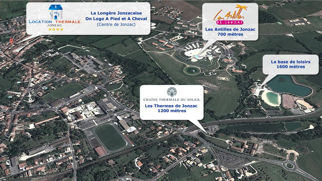Carte de localisation Location Thermale de Jonzac