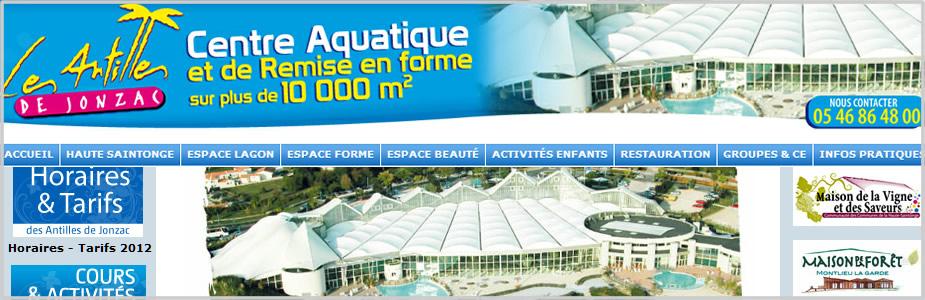 Site internet des Antilles de Jonzac