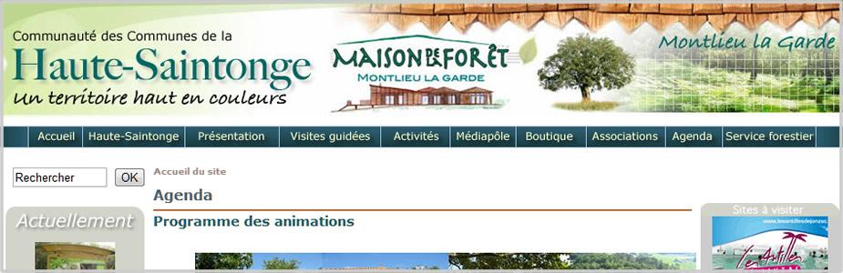 Site internet de la maison de la Forêt