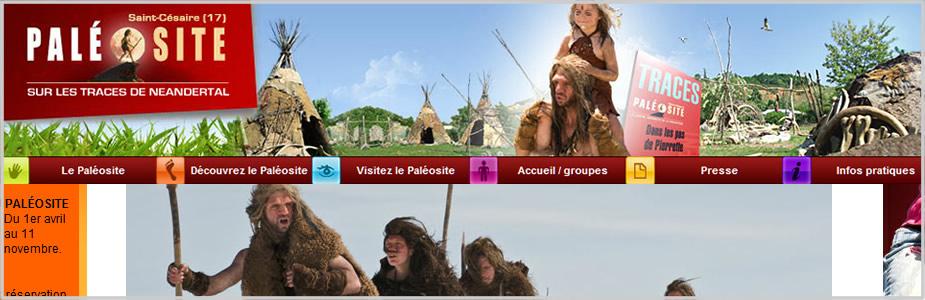Site internet Paléo site Haute Saintonge