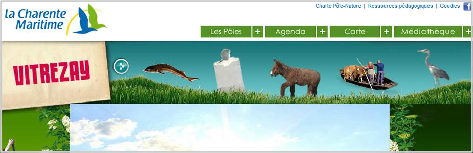 Site internet du pôle Nature